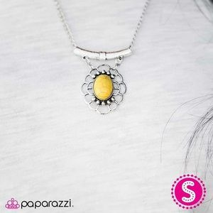 Yellow spring delight necklace and ring
